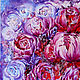 Abstract floral painting Purple and Pink flowers peonies oil on canvas. Pictures. Art Gallery by Natalya Zhdanova. My Livemaster. Фото №5