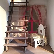 Куклы и игрушки handmade. Livemaster - original item Furniture for dolls: ladder. Window. Balcony.. Handmade.
