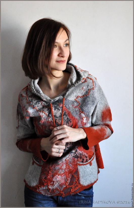 """Кофты и свитера ручной работы. Ярмарка Мастеров - ручная работа. Купить Свитер """"Осенний блюз"""". Handmade. Комбинированный, свитер"""