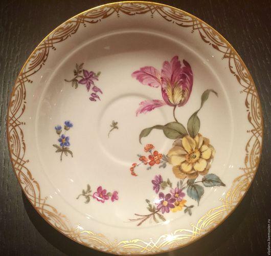 Винтажная посуда. Ярмарка Мастеров - ручная работа. Купить Meissen , антикварная тарелочка (Мейсен ). Handmade. Белый, антикварная посуда