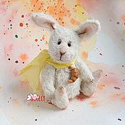 Куклы и игрушки ручной работы. Ярмарка Мастеров - ручная работа Тедди кролик Рогалик. Handmade.