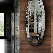 Для дома и интерьера ручной работы. Ярмарка Мастеров - ручная работа Зеркало в мозаичной раме, титановый овал. Handmade.