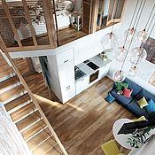 Для дома и интерьера ручной работы. Ярмарка Мастеров - ручная работа Антресольный этаж, чердак-кровать лофт. Handmade.