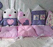 Для дома и интерьера ручной работы. Ярмарка Мастеров - ручная работа Бортики подушки в кроватку. Handmade.