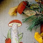 """Для дома и интерьера ручной работы. Ярмарка Мастеров - ручная работа Большой мешочек """"Для грибов"""". Handmade."""