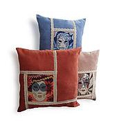Для дома и интерьера ручной работы. Ярмарка Мастеров - ручная работа Подарок на юбилей, комплект подушек Маскарад, подарок на юбилей купить. Handmade.