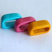 Материалы для творчества ручной работы. Ярмарка Мастеров - ручная работа Керамические бусины для двойного регализ/текстильного шнура 10мм. Handmade.