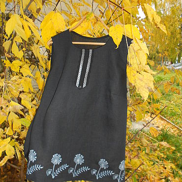 Одежда ручной работы. Ярмарка Мастеров - ручная работа Топы: Льняной одуванчик. Handmade.