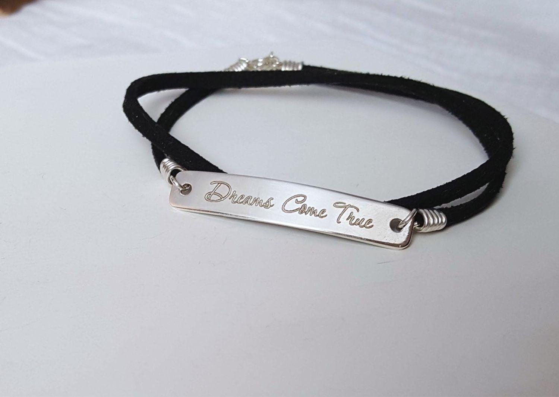 Серебряный браслет с гравировкой - любая надпись, фраза, имена