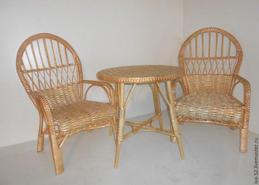 Мебель ручной работы. Ярмарка Мастеров - ручная работа. Купить Комплект плетеной мебели из лозы.. Handmade. Комплект, набор, Мебель