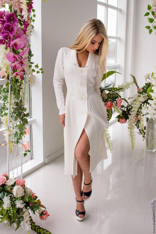 """Платья ручной работы. Ярмарка Мастеров - ручная работа. Купить Платье """"Безмятежность"""". Handmade. Белый, дресс-код"""