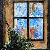 Картины и панно handmade. Livemaster - original item The window in the dressing room. Oil on canvas. 2018.. Handmade.