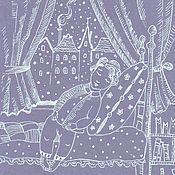 Картины и панно ручной работы. Ярмарка Мастеров - ручная работа Спокойная ночь. Handmade.