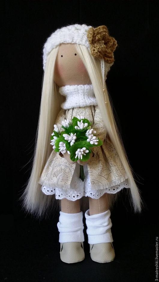 Куклы тыквоголовки ручной работы. Ярмарка Мастеров - ручная работа. Купить Интерьерная кукла Ангелина. Handmade. Белый, интерьерная кукла