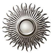 Для дома и интерьера ручной работы. Ярмарка Мастеров - ручная работа Зеркало солнце Silver. Handmade.