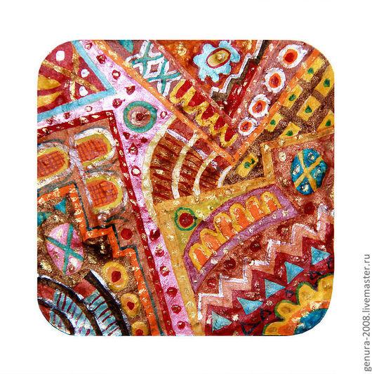 Абстракция ручной работы. Ярмарка Мастеров - ручная работа. Купить Орнамент. Handmade. Орнамент, яркое, акрил, гипс, акриловые краски
