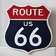 Освещение ручной работы. Ярмарка Мастеров - ручная работа. Купить Светящийся знак Трасса 66 Route 66. Handmade. Разноцветный