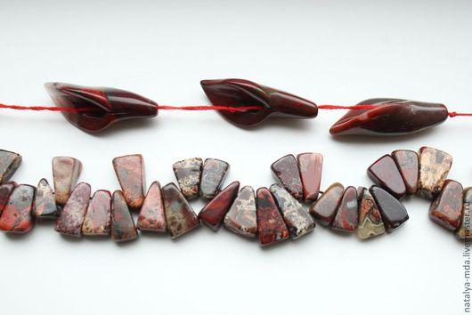 Для украшений ручной работы. Ярмарка Мастеров - ручная работа. Купить Яшма красная. Handmade. Бордовый, цветок из камня, из камня