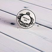 Материалы для творчества ручной работы. Ярмарка Мастеров - ручная работа Керамическая ручка для мебели плоская - винтаж. Handmade.
