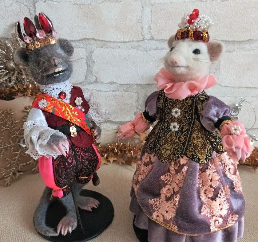 The year of the RAT . Toy collectible, Felted Toy, Ekaterinburg,  Фото №1