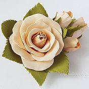 """Свадебный салон ручной работы. Ярмарка Мастеров - ручная работа Заколка """"Розы"""". Handmade."""