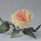 Цветы и флористика handmade. Livemaster - original item Silk flowers rose interior