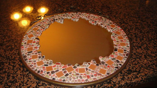"""Зеркала ручной работы. Ярмарка Мастеров - ручная работа. Купить Мозаика, Зеркало  """"Карамелька"""". Handmade. Декоративное зеркало, зеркало"""