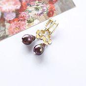 Украшения handmade. Livemaster - original item Earrings black Baroque pearl. Handmade.