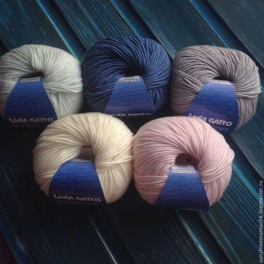 Вязание ручной работы. Ярмарка Мастеров - ручная работа. Купить Lana Gatto Super soft. Handmade. Комбинированный, пряжа для вязания