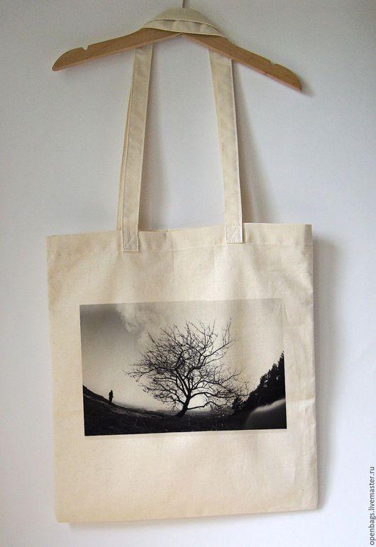 Сумки и аксессуары ручной работы. Ярмарка Мастеров - ручная работа. Купить Эко сумка с деревом. Handmade. Белый, Экосумка, авоська