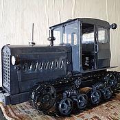 Куклы и игрушки ручной работы. Ярмарка Мастеров - ручная работа Игрушка-модель советского трактора Т-74. Handmade.