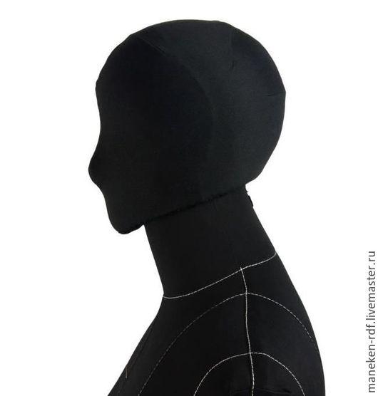 Манекены ручной работы. Ярмарка Мастеров - ручная работа. Купить Голова к мягкому манекену Monica. Handmade. Черный, бежевый