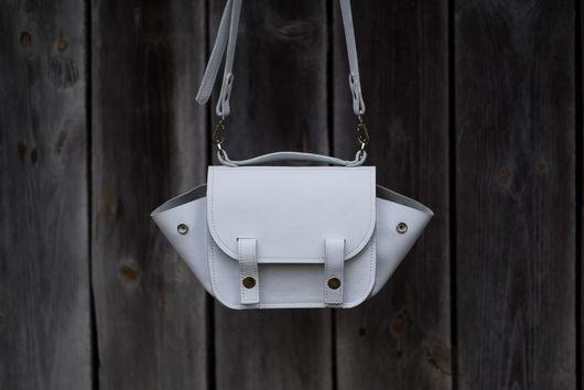 Женские сумки ручной работы. Ярмарка Мастеров - ручная работа. Купить Ссобойка NAw. Handmade. Белая сумка, сумка из кожи