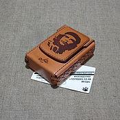 Сувениры и подарки handmade. Livemaster - original item A cigarette case or a case for a pack of cigarettes with a cigar. Handmade.