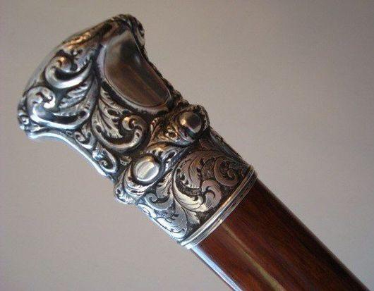 Готика ручной работы. Ярмарка Мастеров - ручная работа. Купить трость. Handmade. Трость, аксессуар трость, изделия из серебра
