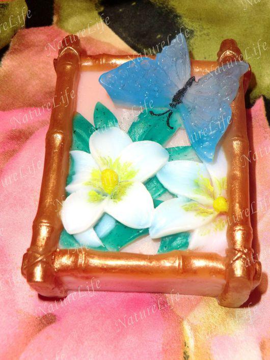 """Мыло ручной работы. Ярмарка Мастеров - ручная работа. Купить Сувенирное мыло """"Картина с бабочкой"""". Handmade. Бабочка, красивое мыло"""