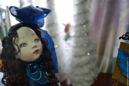 """Коллекционные куклы ручной работы. Ярмарка Мастеров - ручная работа. Купить """"Портрет Синей Птички"""". Handmade. Тёмно-синий, художница"""