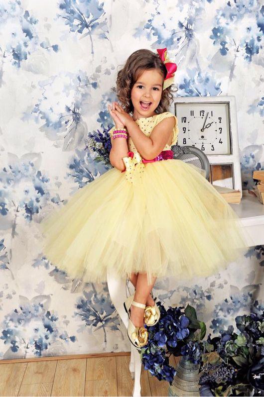"""Одежда для девочек, ручной работы. Ярмарка Мастеров - ручная работа. Купить Авторское пышное платье """"Baby Maize"""". Handmade. малиновый"""