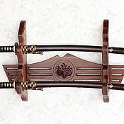 Подставки ручной работы. Ярмарка Мастеров - ручная работа Полка для самурайских мечей. Handmade.