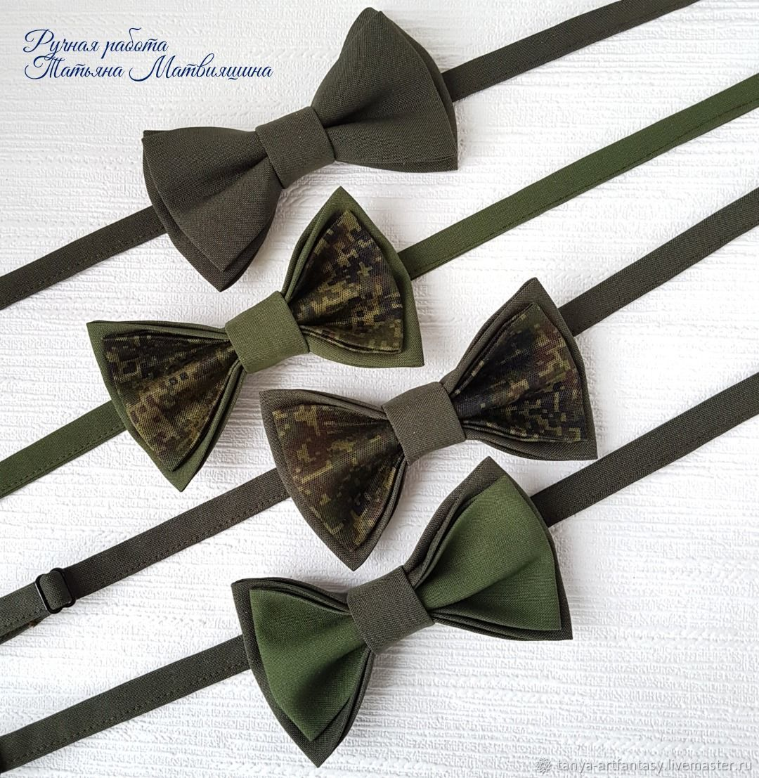 Khaki bow tie. Bow tie for men, Butterflies, Vladivostok,  Фото №1