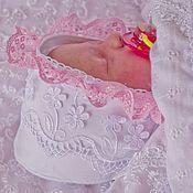 Работы для детей, ручной работы. Ярмарка Мастеров - ручная работа Шапочка- чепчик  для новорожденных. Handmade.