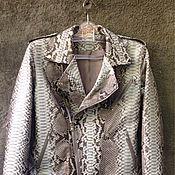 Одежда ручной работы. Ярмарка Мастеров - ручная работа Куртка байкерская женская из кожи питона. Handmade.