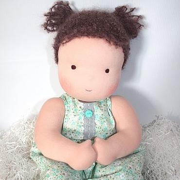 Куклы и игрушки ручной работы. Ярмарка Мастеров - ручная работа Младенец - девочка с хвостиками. Handmade.
