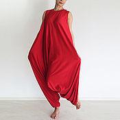 Одежда handmade. Livemaster - original item Yoga jumpsuit, women`s jumpsuit, large size - PLAMA. Handmade.