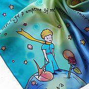 Аксессуары handmade. Livemaster - original item The Little Prince. Hand painted silk scarf. Handmade.