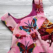 """Работы для детей, ручной работы. Ярмарка Мастеров - ручная работа Сарафан с ручной вышивкой """"Бабочка"""". Handmade."""