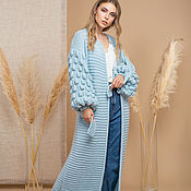 Одежда handmade. Livemaster - original item Blue cardigan women`s. Handmade.