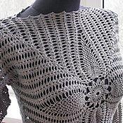 Одежда ручной работы. Ярмарка Мастеров - ручная работа Платье крючком с длинным рукавом. Handmade.