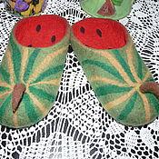"""Обувь ручной работы. Ярмарка Мастеров - ручная работа Тапочки """"Арбузные"""". Handmade."""