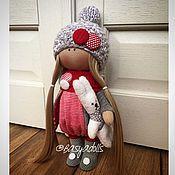 Куклы и игрушки ручной работы. Ярмарка Мастеров - ручная работа Кукла с зайцем. Handmade.